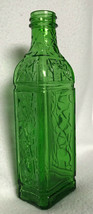 "VTG 1930's EMBOSSED Emerald Green Owens Illinois bottle; Screw top; VGVC; 7.25"" - $18.81"