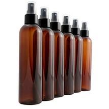 8oz Amber Brown Empty Plastic PET Spray Bottles with Fine Mist Atomizer ... - $15.58
