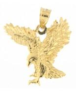 Eagle Unisex 14kt Yellow Gold Pendant - $99.00