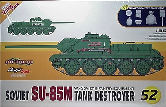 Cyber- Hobby 1/35 kit 9152  WW2 Soviet SU-85M Tank Destroyer