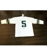 PAUL HORNUNG HOF 86 GREEN BAY PACKERS SIGNED AUTO 1961 MITCHEL & NESS JE... - $494.99