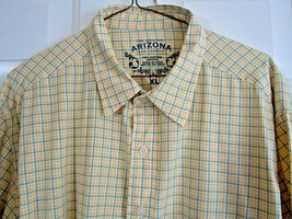 Arizona Jean Co. Men's Size XL Checkered Shirt Long Sleeve Excellent Condition - $7.91