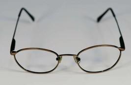 Fossil Sidney Brush Brown Metal Eyeglass Frames Designer Style Rx Eyewear - $9.12