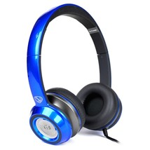 Monster N-Tune High Performance On-Ear Headphones w/3.5mm Plug(Glossy Blue) - $42.86