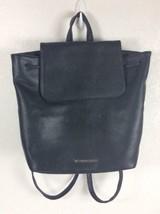 Victoria's Secret Black Faux Leather Drawstring Backpack - $17.75