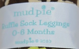 Mudpie Ruffle Socks Leggings Zebra Stripes Zero To Six Months image 2
