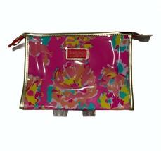 Lilly Pulitzer for Estee Lauder Pink Floral Makeup Bag NWOT - $19.77
