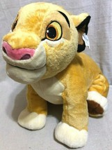 "Lion King Disney Store Baby Simba 13"" Soft Plush Stuffed Animal Used with tag - $17.81"
