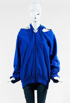 Vetements x Champion NWT Blue French Terry Open Shoulder In Progress Hoo... - $585.00