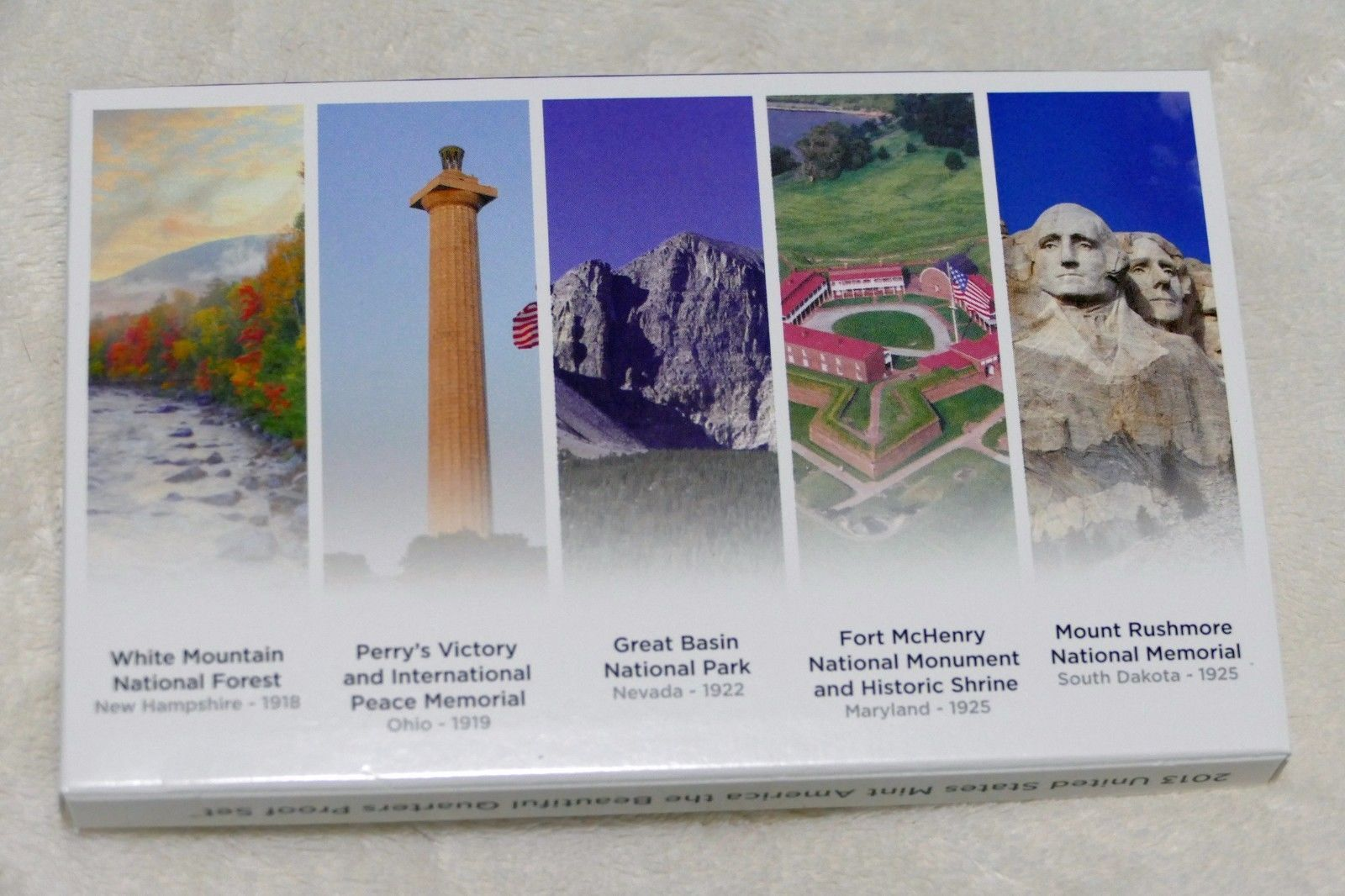 2013  ATB QUARTERS PROOF SET W/ THE MT. RUSHMORE VOTED BEST CIRCULATING COIN