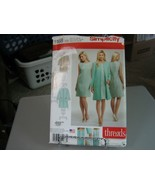Simplicity 1168 Dress in 2 Lengths & Lined Coat or Jacket Pattern - Size... - $6.92