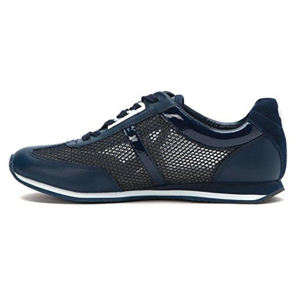 5d885d15ea1 Michael Kors Maggie Blue Navy Mesh Trainer Fashion Sneakers Shoes Women 6