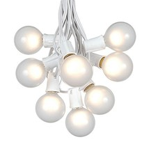 G50 Globe Outdoor String Lights With 25 Frosted White Globe Bulbs By Nov... - $33.25