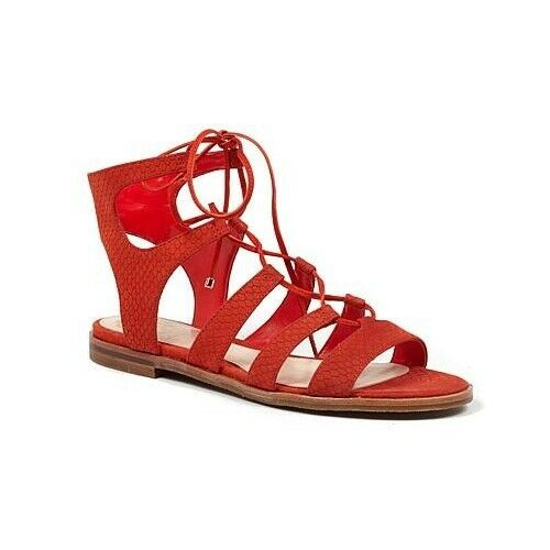 Primary image for Vince Camuto Women Tany Ghillie Gladiator Red Leather Lace Up Sandals 8.5 M NEW