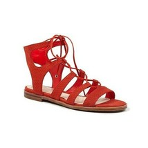 Vince Camuto Women Tany Ghillie Gladiator Red Leather Lace Up Sandals 8.... - $43.56
