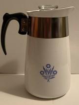 Vintage Corning Ware Stovetop Percolator 6 Cup Coffee Pot Cornflower Blue  - $24.75