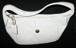 Vintage Coach Handbag Bone White Textured Leather Shoulder Bag Care Inst... - $29.99