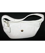 Vintage Coach Handbag Bone White Textured Leather Shoulder Bag Care Inst... - $39.99
