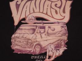AN ONEILL  VANTASY  t shirt Black Tee Medium Van Girl Surfer Surfboard - $3.87