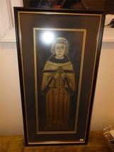 Vintage Saint Michael Penkevil RELIGIOUS Priest in Robe Gold Framed Print - $123.75