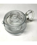 Vintage Pyrex Glass Flameware 6 Cup Coffee Tea Pot  with Lid 8336 H B31 - $42.56