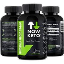 NOW KETO® Apple Cider Vinegar Capsules   Natural Appetite Suppressant   ... - $17.16