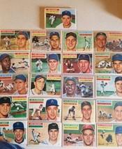 1956 topps baseball cards lot w/ stars - $543.51