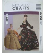 """McCall's 3702 OOP Uncut 15½"""" Fashion Doll EVENING GOWN PATTERN Tyler Wen... - $8.99"""