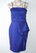 Calvin Klein Luminous Periwinkle Pleated Stretch Dress sz. 10 NWT New - $49.49