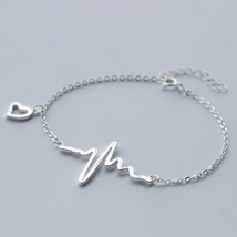 Fashion beat heart 925 sterling silver chain br... - $43.69