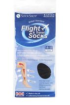 Mens Sockshop Flug Bigfoot 14-18 Mmhg Socken Schwarz - $9.80