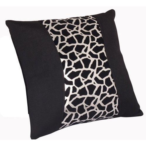 Fashion Design Leopard Lumbar Support/Back Cushion/ Throw Pillow,Silver