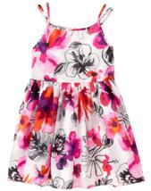 Gymboree Island Girl Tropical Floral Cotton Poplin Dress 4 10 NWT - $15.99