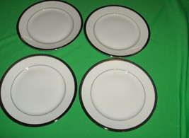 4 Rosenthal Nobility China Bread Plates Germany White Platinum Silver Encrusted - $54.45
