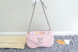 100% AUTH Louis Vuitton PINK NEW WAVE CHAIN EPI Leather MM Shoulder Bag