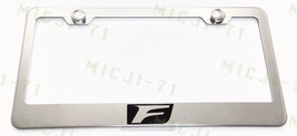 F Sport Lexus Stainless Steel License Plate Frame Rust Free W/ Bolt Caps - $13.50