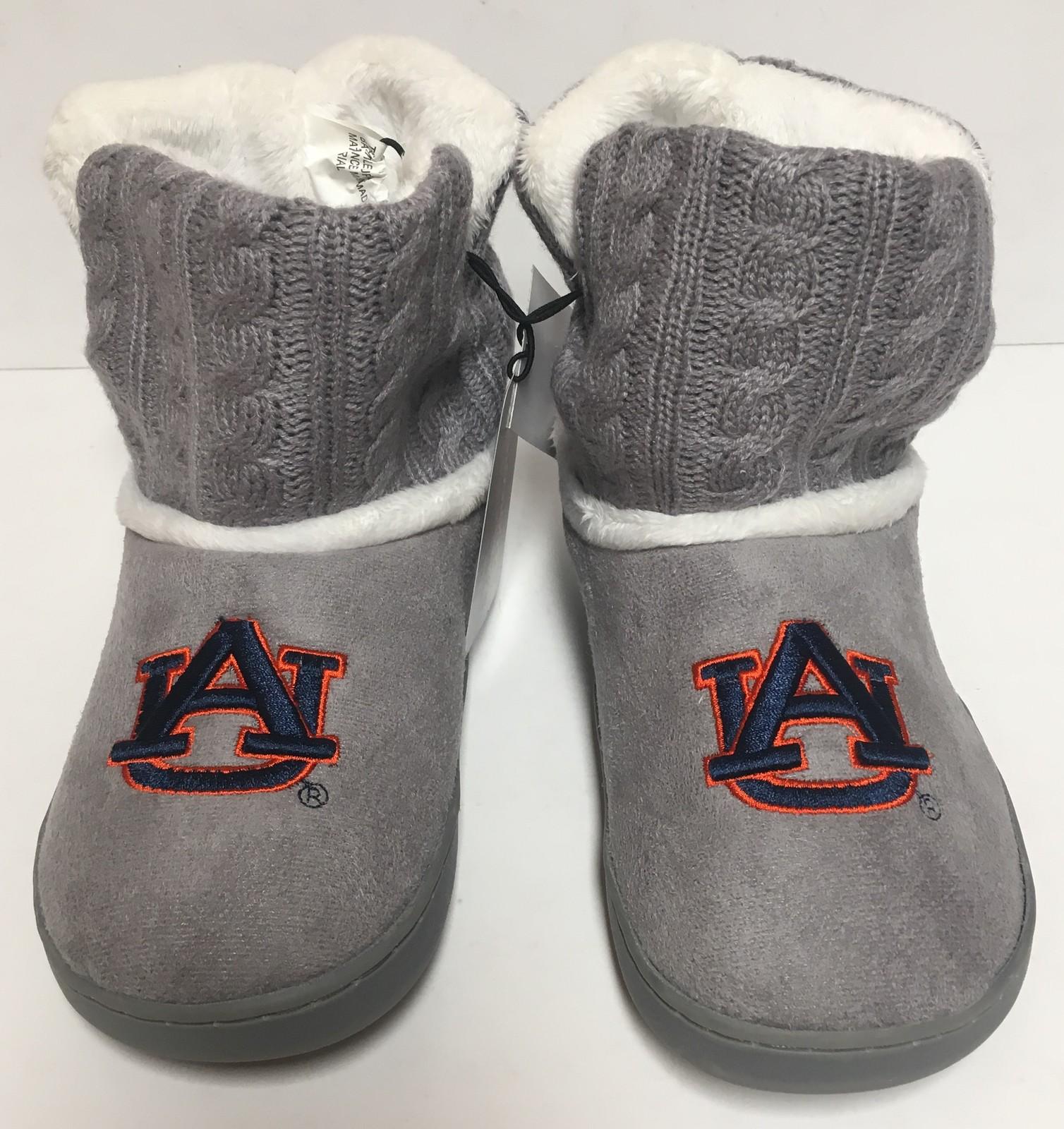 Auburn University Fur Knit Boots AU Logo Women's Many Sizes image 2