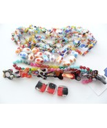 Lampwork Beads Millefiori Glass Chips LOT Butte... - $35.00