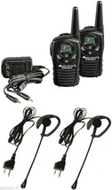 Walkie Talkie Midland LXT118 + Headphones With Vox +Charger+Transformer ... - $71.57