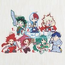 Anime My Hero Academia Boku no Hero Akademia Keychain Rubber Strap Big Size Gift - $8.98