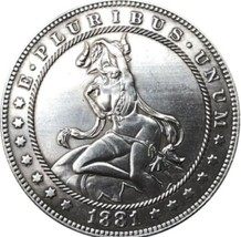 New Hobo Nickel 1881 Sexy Girl Morgan Dollar Demon Lucifer Devil Casted ... - $11.39