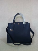 Nwt Tory Burch Navy Saffiano Leder Robinson Triple-Compartment Tote $ 458 - $403.93