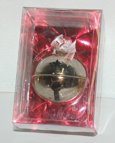 Roman 36722 Babys First Christmas Jingle Bell Ornament Silver