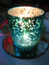 Haunted Glass Candle Holder 27X Attracting Fortune Abundace Magick Cassia4 - $28.00