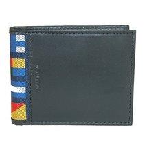 Nautica Men's Mclures Leather Slim RFID Protected Passcase Bifold Wallet (Black)
