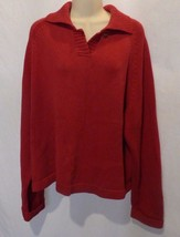 Woolrich Red Sweater, Size Large Heavy weight with Collar - $282,00 MXN