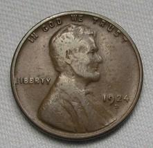 1924-D Lincoln Wheat Cent CH F Coin AE466 - $43.47