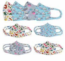 Lot of 12 Reusable Cloth Face Cover Stretch Handmade Washable Mask Toddler Kids image 1