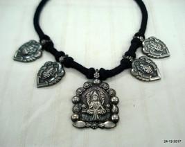 ethnic sterling silver pendant necklace hindu god vishnu & lakshmi - $246.51