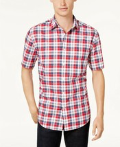 NEW MENS TOMMY HILFIGER CLASSIC FIT PLAID BUTTON FRONT SHIRT S - $26.72